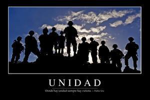 Unidad. Cita Inspiradora Y Póster Motivacional