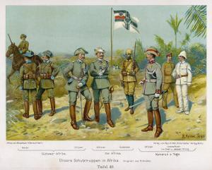 "Uniforms of ""Schutztruppen in Afrika"", on Left South-West Africa by R Knoetel"