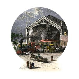 Union Pacific Railroad Depot at Omaha, Nebraska, C 1880