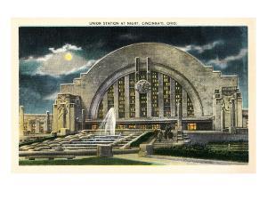 Union Station at Night, Cincinnati, Ohio