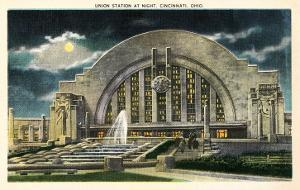 Union Station at Night, Cincinnati, Ohio