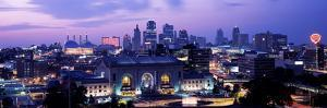 Union Station at Sunset with City Skyline in Background, Kansas City, Missouri, USA 2012