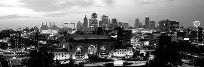 Union Station at Sunset with City Skyline in Background, Kansas City, Missouri, USA