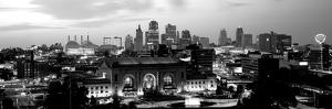 Union Station at Sunset with City Skyline in Background, Kansas City, Missouri, USA