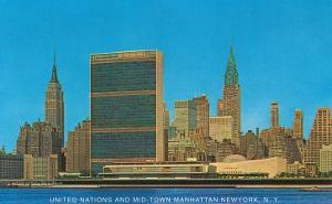 United Nations Building and Skyline, New York City