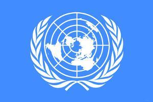 United Nations Flag Poster Print