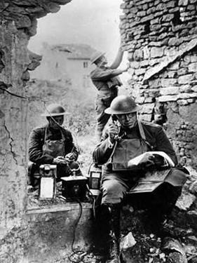 United States Army Signal Corps Using Captured German Telephone Equipment, World War 1