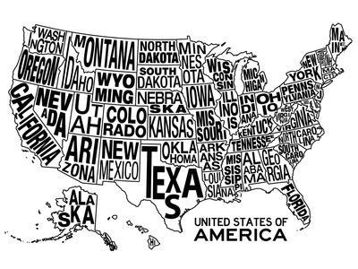 Maps of the United States Posters for sale at AllPosterscom