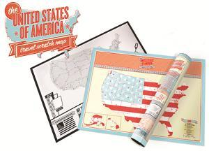 United States Scratch Map - Travel Edition Scratch Poster