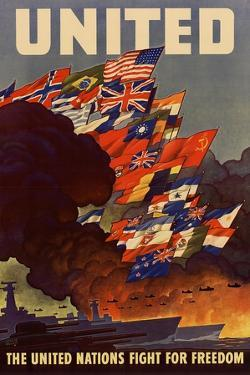 United The United Nations Fight for Freedom WWII War Propaganda