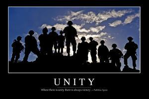 Unity: Inspirational Quote and Motivational Poster