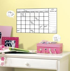 Universal Calendar Dry Erase Peel and Stick Wall Decals
