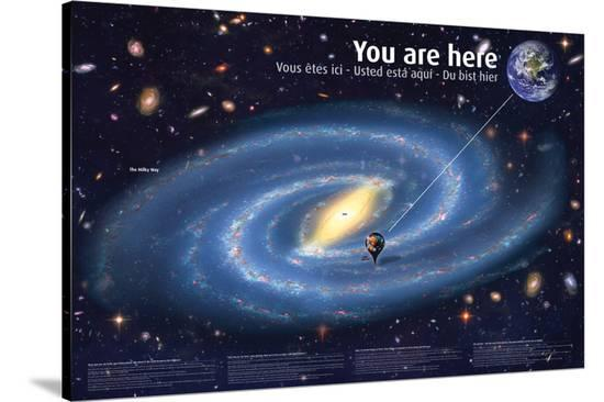 Universe: You Are Here--Stretched Canvas Print