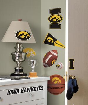 University of Iowa Peel & Stick Wall Decals