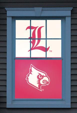 University of Louisville Cardinal Bird Dual WOWindow Poster