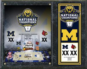 University of Michigan Wolverines 2013 NCAA Men's Basketball National Champions Composite Plaque