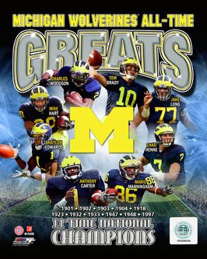 University of Michigan Wolverines All Time Greats Composite