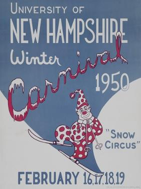 University of New Hampshire Winter Carnival Poster