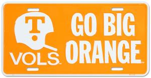 University of Tennessee Go Big Orange License Plate
