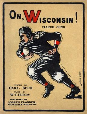 University of Wisconsin Football Player Runs for the End Zone, 1910