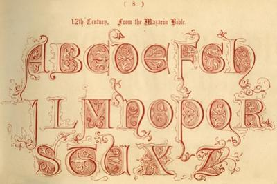 '12th Century. From the Mazarin Bible', 1862 by Unknown