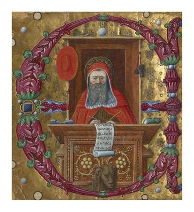 Initial E: Saint Jerome in His Study