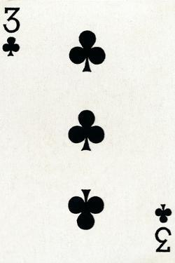 3 of Clubs from a deck of Goodall & Son Ltd. playing cards, c1940 by Unknown
