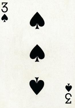 3 of Spades from a deck of Goodall & Son Ltd. playing cards, c1940 by Unknown