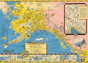 A Good-natured Map of Alaska - The Alaska Line - Alaska Steamship Company by Unknown