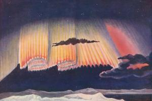 'A Great Scientist's Presentation of the Gorgeous Curtain Woven By An Aurora', c1935 by Unknown