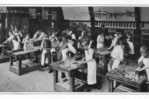 A manual training centre: woodwork, London, c1900 (1901) by Unknown