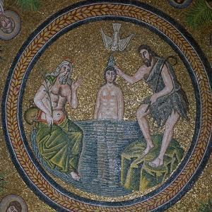 A mosaic of the baptism of Christ, 5th century by Unknown