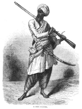 'A Sikh Soldier', c1880