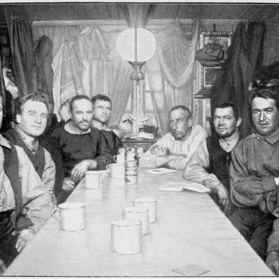 'A Winter Evening at Framheim', Amundsen's South Pole expedition, Antarctica, 1911-1912