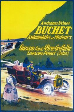 Advertisement for Buchet cars, c1910s by Unknown