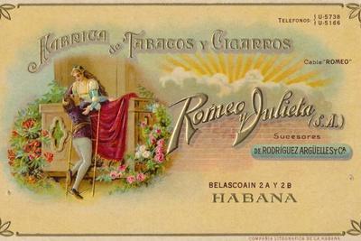 Advertisement for Romeo y Julieta cigars, c1900s
