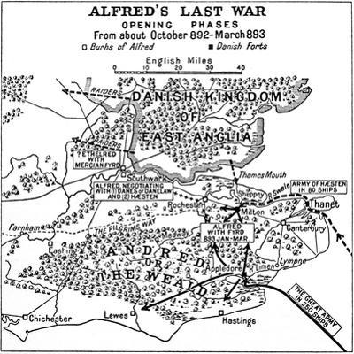 'Alfred's Last War - Opening Phases. From about October 892-March 893', (1935) by Unknown