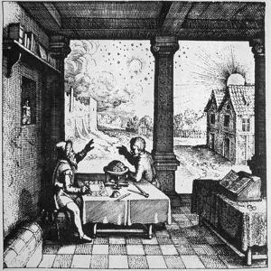 An astrologer casting a horoscope, 1617 (late 19th century) by Unknown