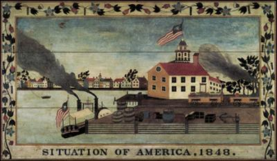 Situation of America, 1848 by Unknown Artist