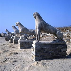 Avenue of Lions, Delos, c600BC by Unknown