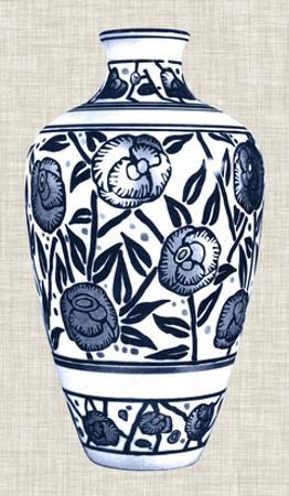 Blue & White Vase IV by Unknown