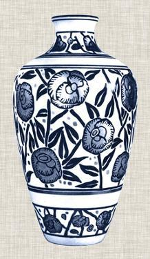 Blue & White Vase IV by Unknown