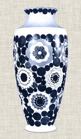 Blue & White Vase V by Unknown