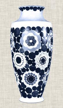 Blue & White Vase V by Unknown