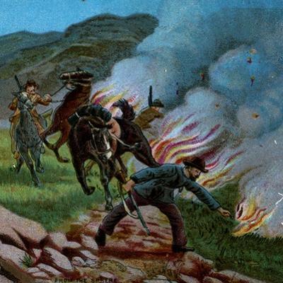 'Boers Firing the Veldt', 1900 by Unknown