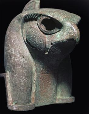 Bronze head of the Egyptian god Ra by Unknown