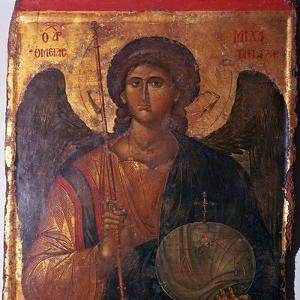 Byzantine icon of the Archangel Michael, 14th century. Artist: Unknown by Unknown
