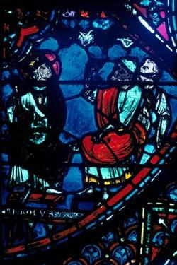 Charlemagne looks at the Milky Way, stained glass window, Chartres Cathedral, France, c1225 by Unknown