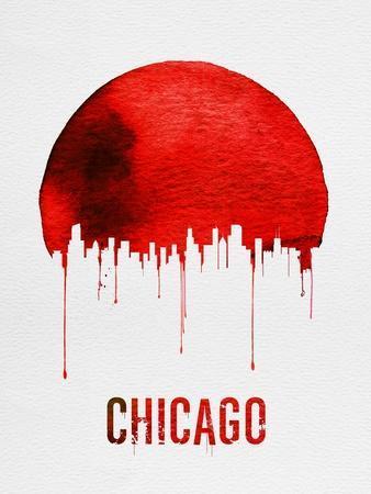 Chicago Skyline Red