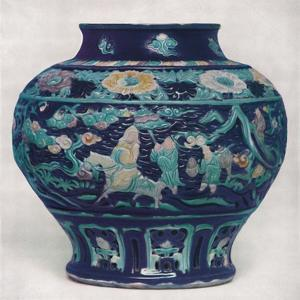 'Chinese Wine-Jar. Ming Period', 1368-1644, (1928) by Unknown